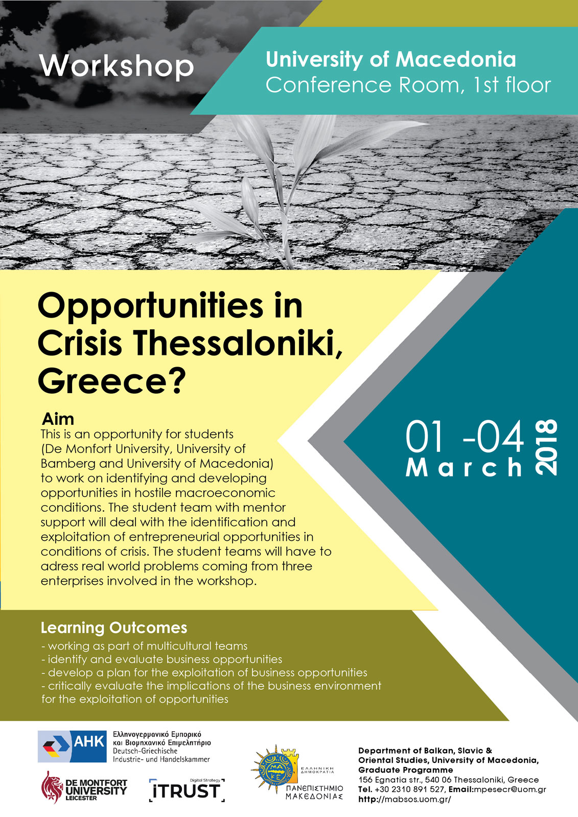 Opportunities in Crisis Thessaloniki, Greece?